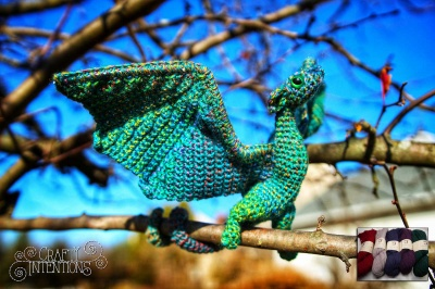 Miniature Wyrm Wyvern Dragon (Crochet): Yarn + Eyes