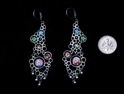 Handmade Night Glow Earrings:  by Yoolie