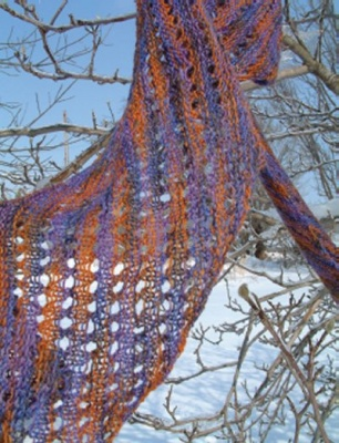 Anne Slanting Lace Scarf/ Pattern from Schaefer -