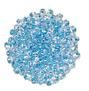 Aqua Lined Crystal AB Megatamas/ 4mm -