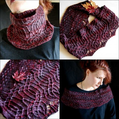 Arbor Long Cowl/ Rios from Malabrigo - Worsted Weight and Up