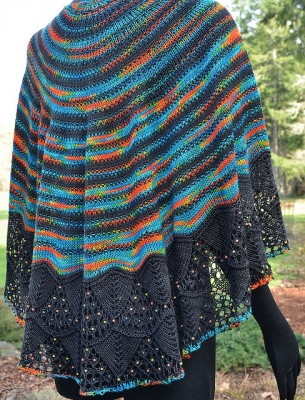 Ariana's Rings/Beaded Shawl Pattern/ Bead Gift -