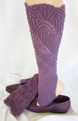 Austrian Lace Stirrup Leg Warmers/ Pattern by Jackie E-S -