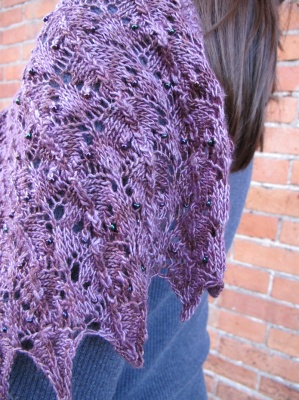 Aventina/ Beaded Scarf Pattern by Laura Nelkin -