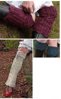 Continuum Beaded Leg Warmers/ Pattern by Sivia - Socks