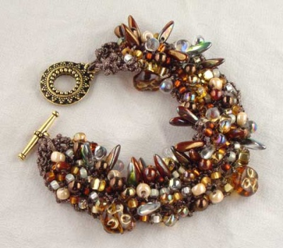 Bead Stew Bracelet/ Rock Candy - Jewelry Creations