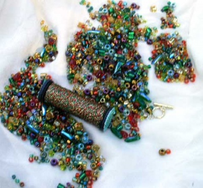 Bead Soup Bracelet/ Holidays/ Christmas - Jewelry Creations