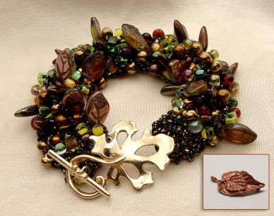 Bead Stew Bracelet/ Deep Forest - Jewelry Creations