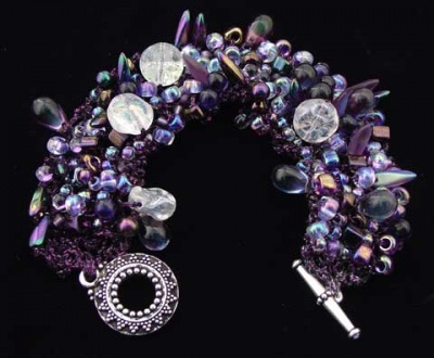 Bead Stew Bracelet/ Moonrise on Neptune - Jewelry Creations