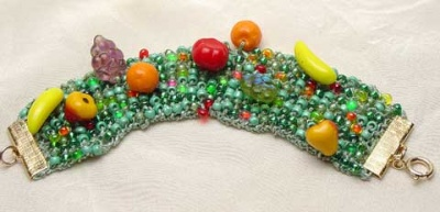 Bead Stew Bracelet/ Summer Fruit Salad - Jewelry Creations