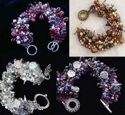 Bead Stew Bracelet/ Custom Mix - Jewelry Creations
