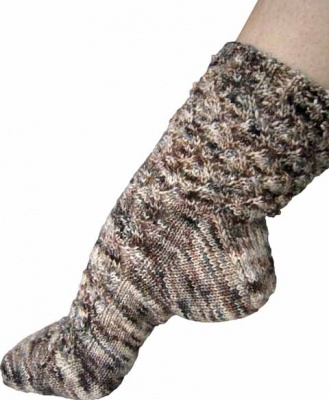 Birches/ A Sock Pattern from Fiber Dreams -