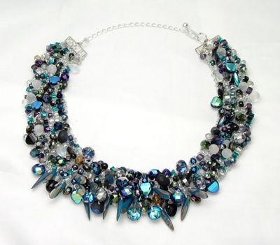Moonrise Neckpiece/ Variation/ Blue Moon -