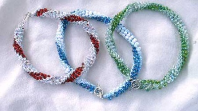 Swirling Beaded Bracelet/ Kit - Jewelry Creations