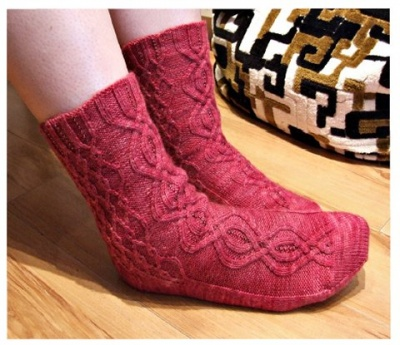 Buried Treasure Socks/ A Beaded Pattern/ Bead Gift -