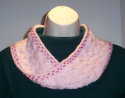 Versatility Beaded Cowl/ Pattern/ by Catie -