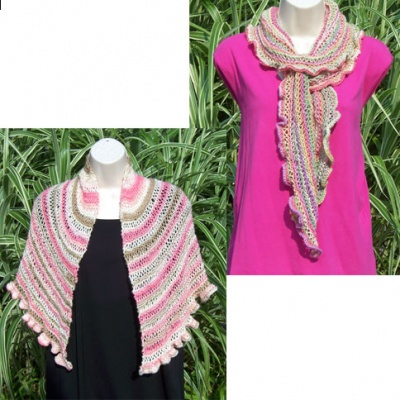 Hope Scarf and Hope Shawlette/ Two New Patterns by Catie - Shawls/Stoles