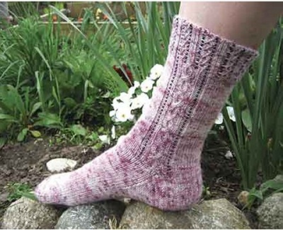 Cherry Blossom Socks Pattern/ A Beaded Design by Sivia - Socks