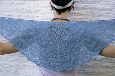 Confluence Shawlette/ Pattern by Sivia Harding/ Bead Gift - Shawls/Stoles