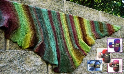 Coquille/ Kits in Nordlys/ Free Pattern from Knitty.com