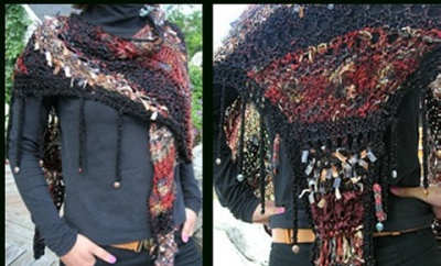 Cultural Fushion/ Free-Range Pattern by Jane Thornley - Shawls/Stoles
