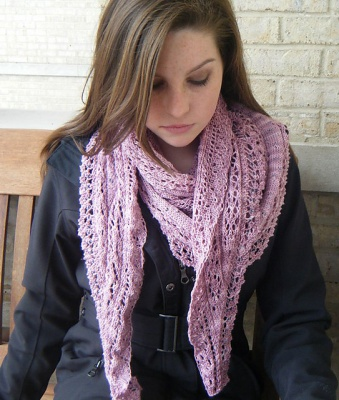 Cynthia/ A Beaded Shawl Pattern by She-Knits - Shawls/Stoles