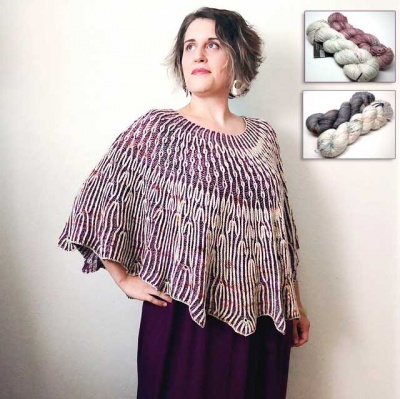 Dandelion Fields Poncho/ New MadTosh Glitter Yarn!