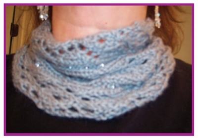 Diamond Girl Neckpiece/ Pattern by Catie/ Gift Option - Scarves and Cowls