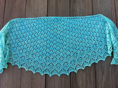 Diamonte Crescent Shawl/ Pattern by Left Side Knits - Shawls/Stoles