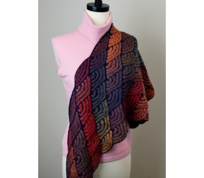 Dragon Wing Shawl: Choices of Color Combos