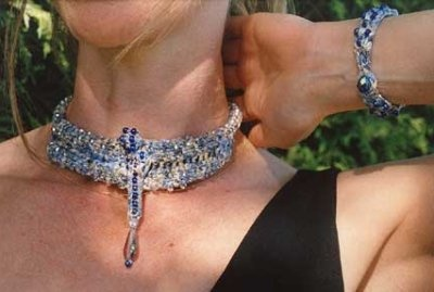 Dragonfly Neckpiece and Bracelet pattern by Sivia Harding -