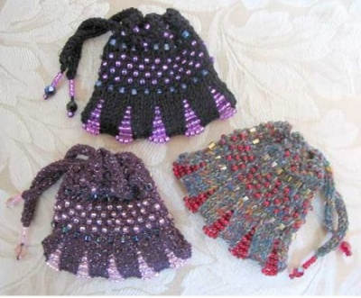 Beaded Drawstring Purse/ Kit - Kits