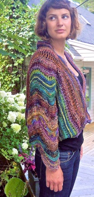 Dusk to Dawn Shrug-Cardi/ Pattern by Jane Thornley -