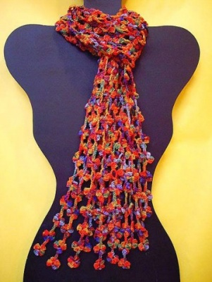 Flower Power/Pattern by Ellene Warren/ Bead Option - Scarves and Cowls