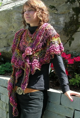 Feather n Fan Wrap/ Pattern by Jane Thornley - Shawls/Stoles