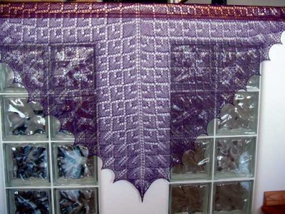 Friendship Shawl/ Pattern by Fiber Dreams/ Bead Gift - Shawls/Stoles
