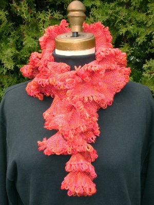 Fringe Benefits Scarf/ Pattern by Maureen Mason-Jamieson - Scarves and Cowls