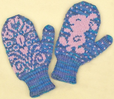 Flip Flopsy Mittens/ Pattern by Barbara Gregory -