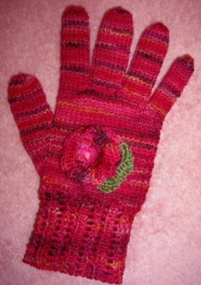 Geranium Gloves/ by Ellene Warren -