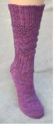 Glitz and Beads Socks/ Pattern from Jackie E-S -