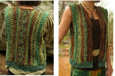 Come Spring Lacey Vest/ Pattern by Jane Thornley -