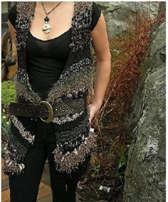 Riverstone Vest/ new pattern by Jane Thornley -