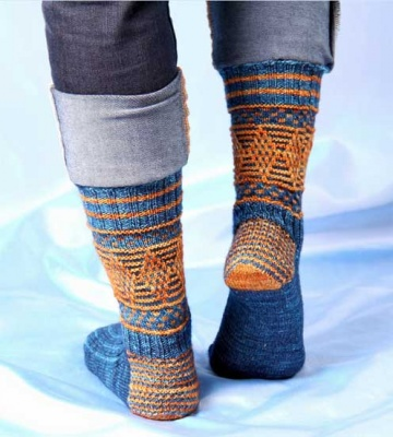 Magickal Quidditch Socks/ Pattern by Jennifer - Socks