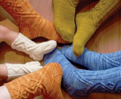 Journey Cable Socks/ pattern by Sivia Harding -