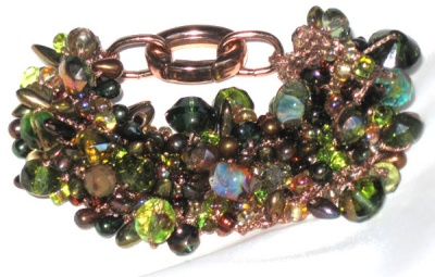 Bead Stew And Crystal Bracelet/ Jungle Love - Jewelry Creations