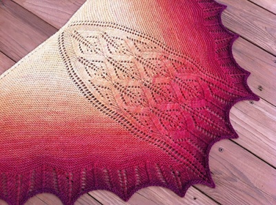 Karamagara Shawl Pattern/ Beaded Version - Shawls/Stoles