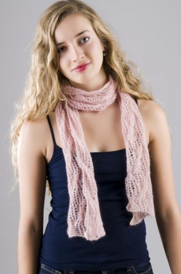 Lace and Cables Scarf/ Pattern by Jackie E-S - Scarves and Cowls