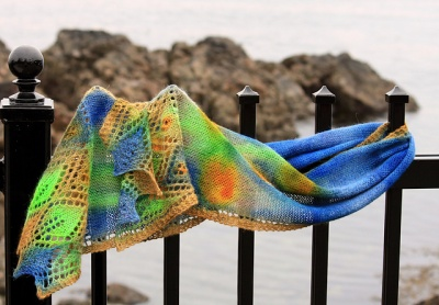 Leaf and Point Trio/ Pattern/ Paint Your Knits! - Scarves and Cowls