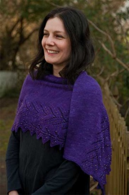 Leafwise/ A Beaded Crescent Shawl Pattern by Sivia - Shawls/Stoles