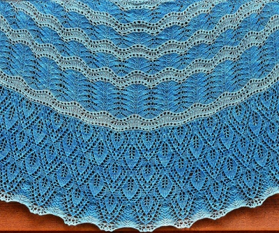 Leaves Washed Ashore/ Beaded Shawl Pattern by Kristi - Shawls/Stoles